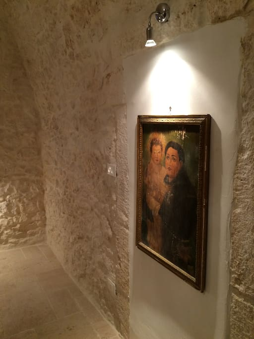 300 year old paintings in mini-gallery. Always available for purchase.