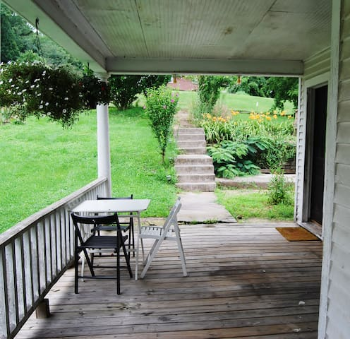 The side porch.