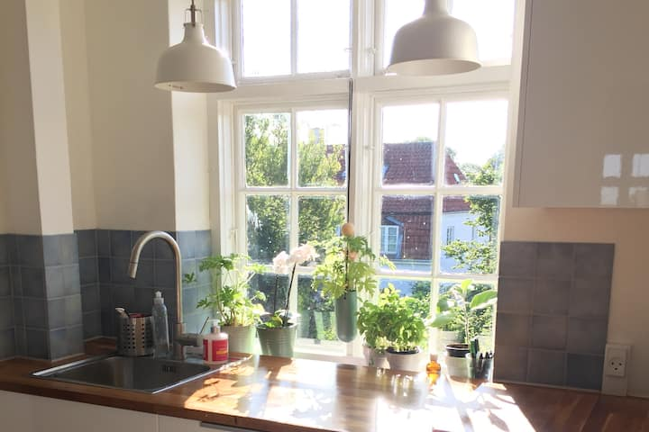 Lovely light villa apartment -very scandinavian!