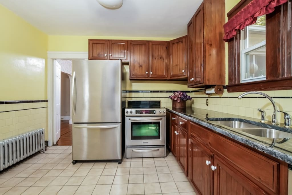 Newly renovated kitchen with stainless appliances and granite, double drawer dishwasher