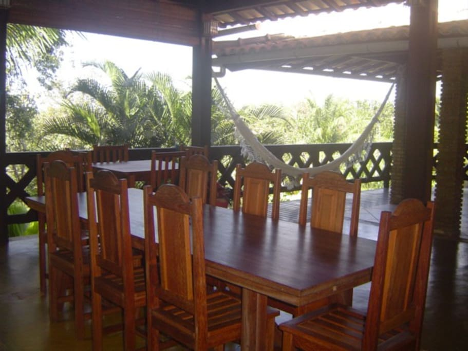 sala de jantar na varanda