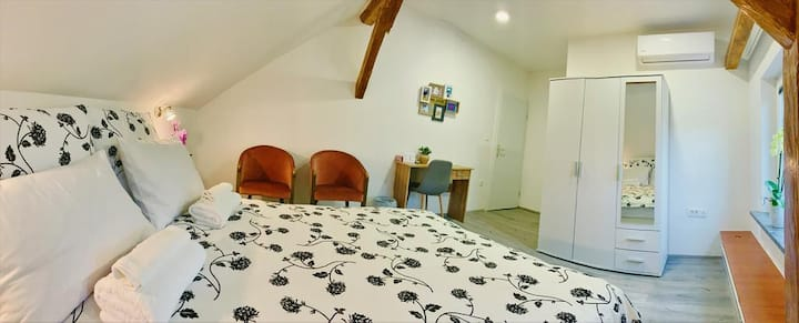 Double Room with Shared Bathroom - Attic