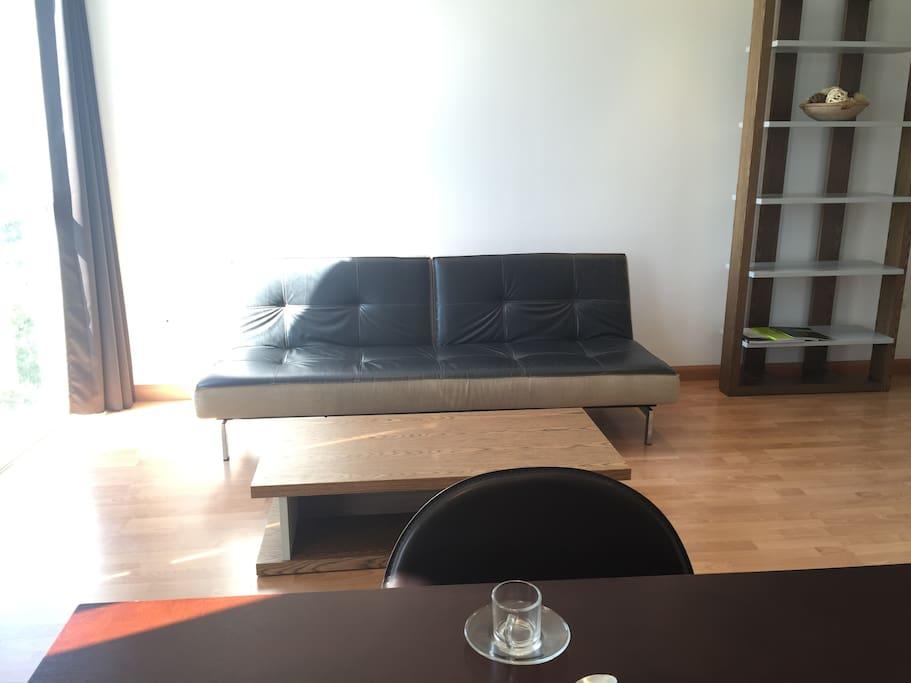 salon con cocina integrada