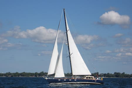 Stay aboard a 54' Sailboat