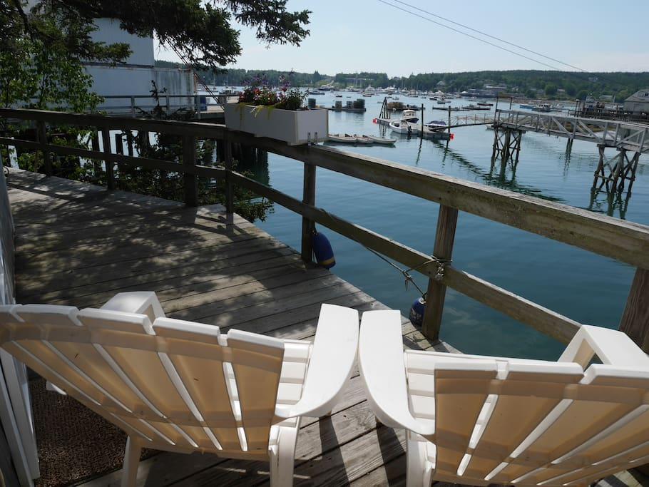 The view from the private deck.