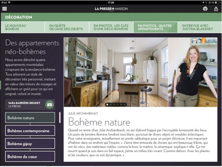 Just was featured in LA PRESSE! : )