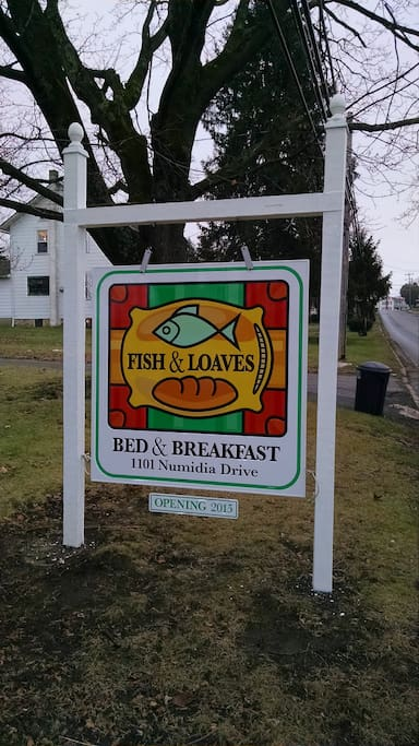 Fish & Loaves Bed and Breakfast Signage