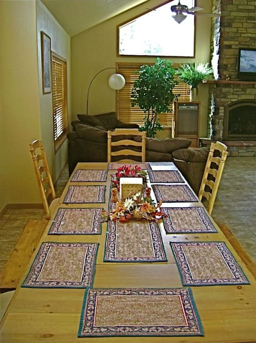 Large dining room seats 10-12 comfortably.
