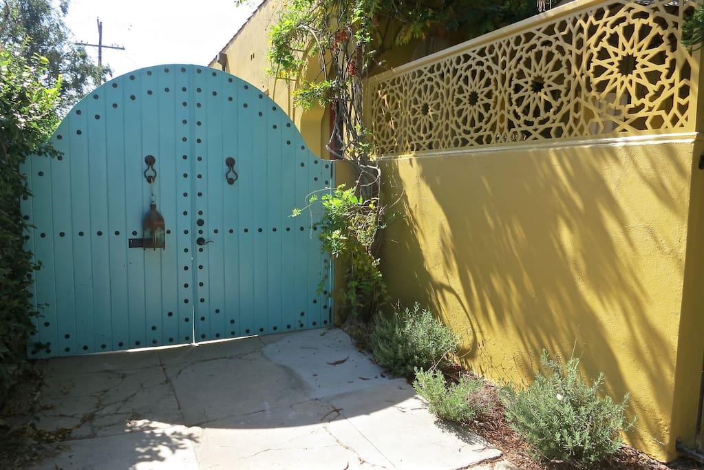 Driveway gate entry