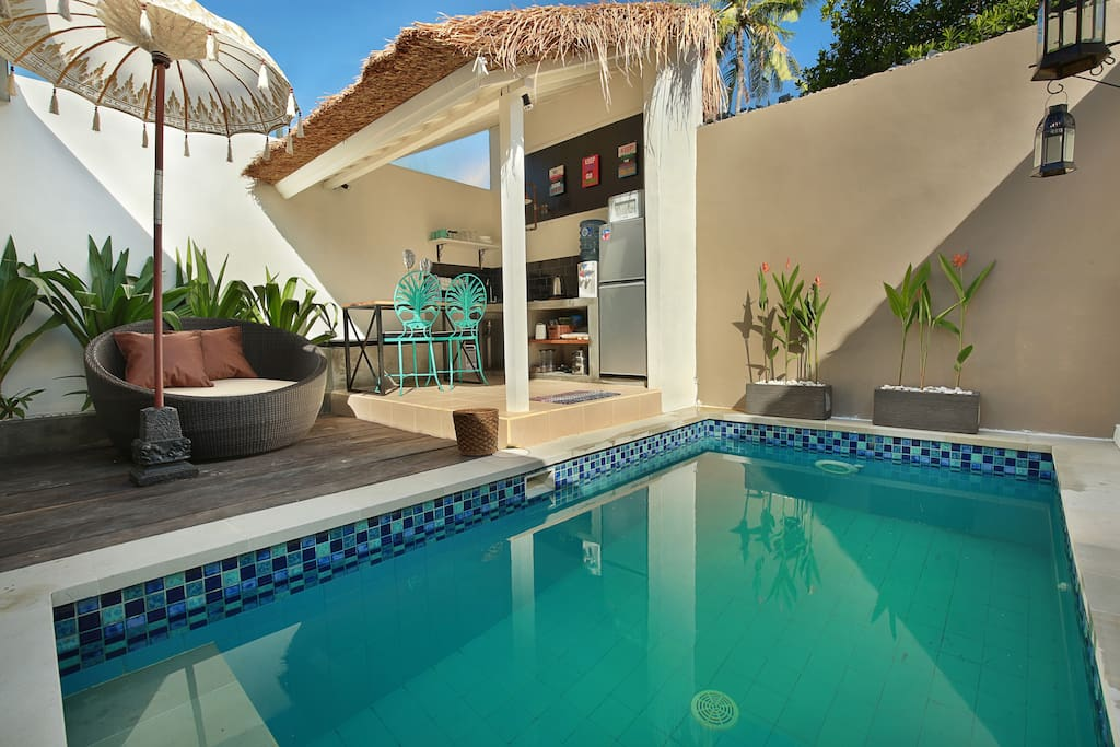 Sun Lounger overlooking the Private Pool