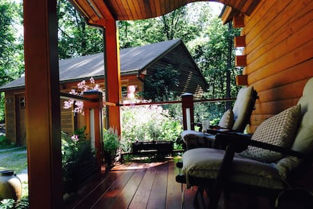 Suite in a Contemporary Log Cabin - Pepperell - 客房