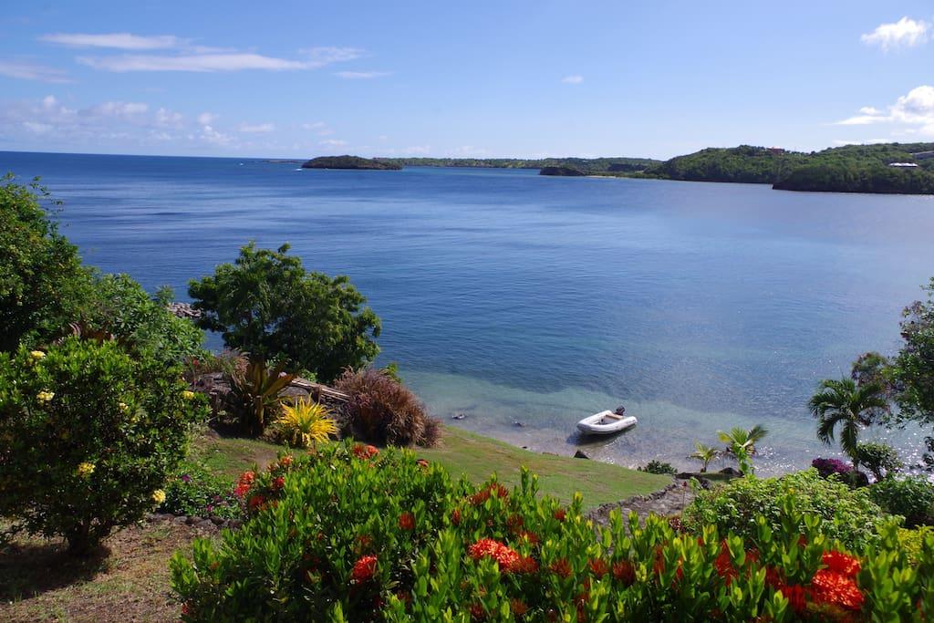 garden and private beach
