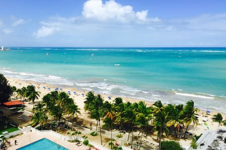Mar Bella de Caribe says it all.  As soon as you step inside the door you are greeted by the Atlantic Ocean with vivid panoramic views of the Beautiful Isla Verde Beach. Enjoy the comfort of sleeping by the sea at a discounted price compared to the neighboring hotels.