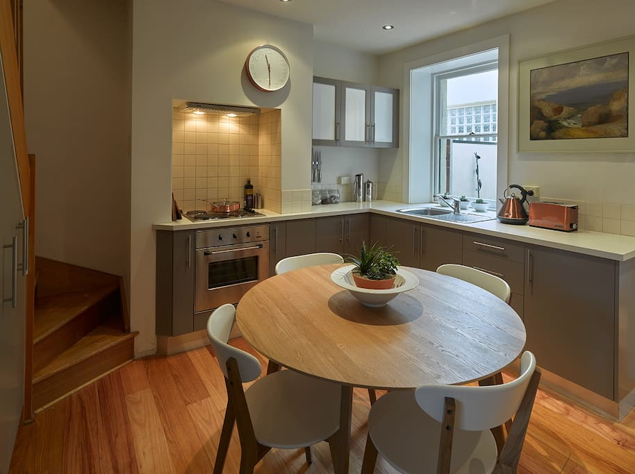 comfortable dining with panel heating
