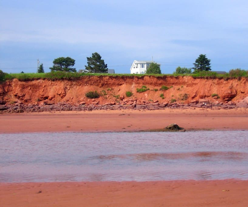 View of the house from the Shore