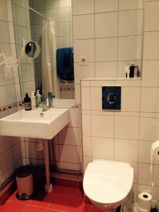 The downstairs bathroom that will be yours during your stay