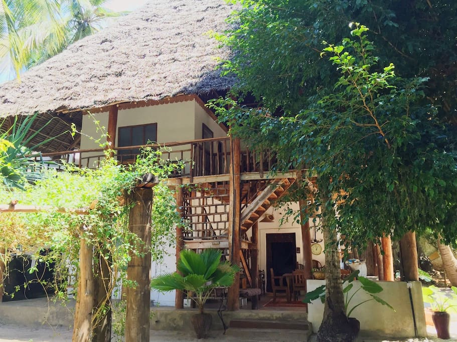 The Ngalawa room is housed here with cozy areas to relax in around the house and a kitchen for self-catering