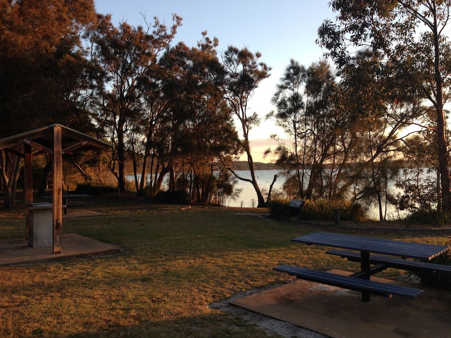 Have a picnic or BBQ down at the reserve on Swan Lake.