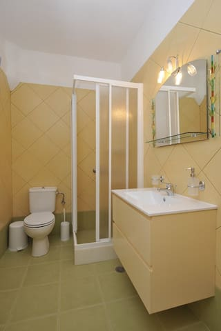 All the apartments have the same bathrooms but in two different colours