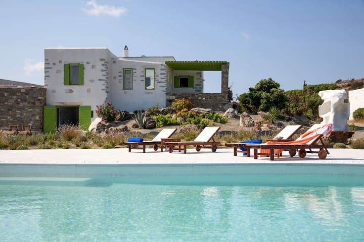 Stone Made Villa with 2 prive pools