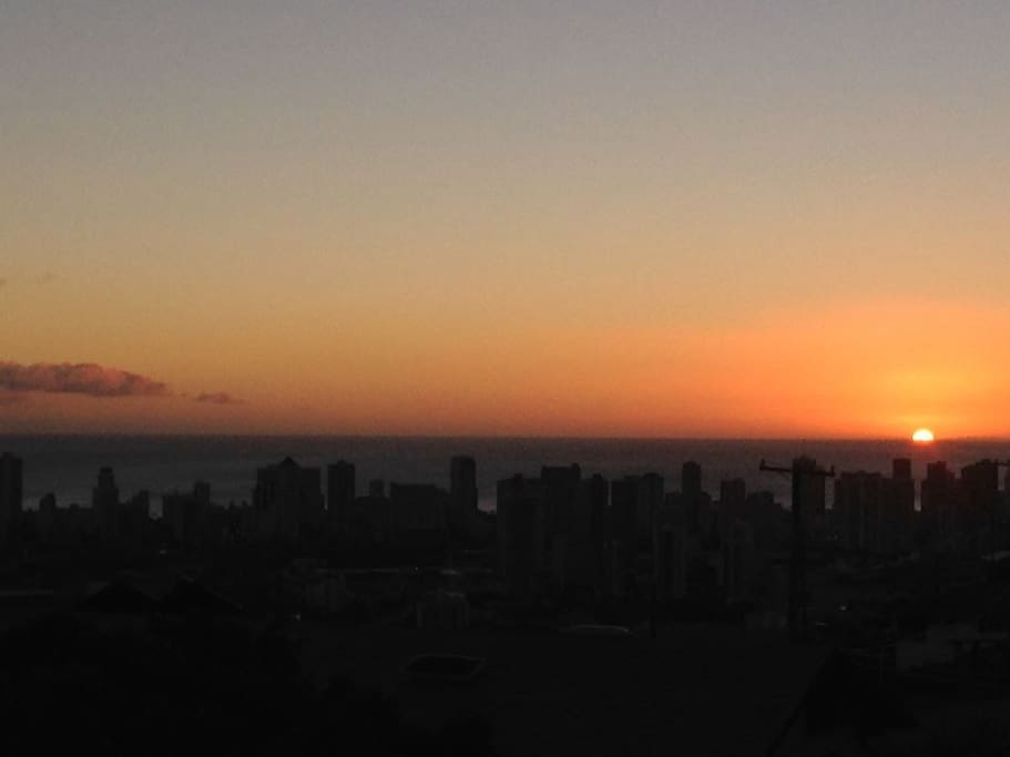 This is an actual view from the Lanai. Watch Sunsets every night during fall through winter. On Fridays, you can see fireworks go off from the Hilton Hawaiian