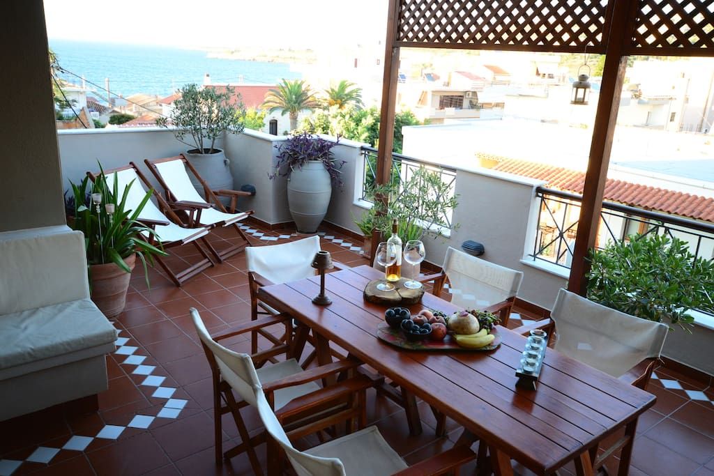 Our balcony wich you can eat and have a great time.