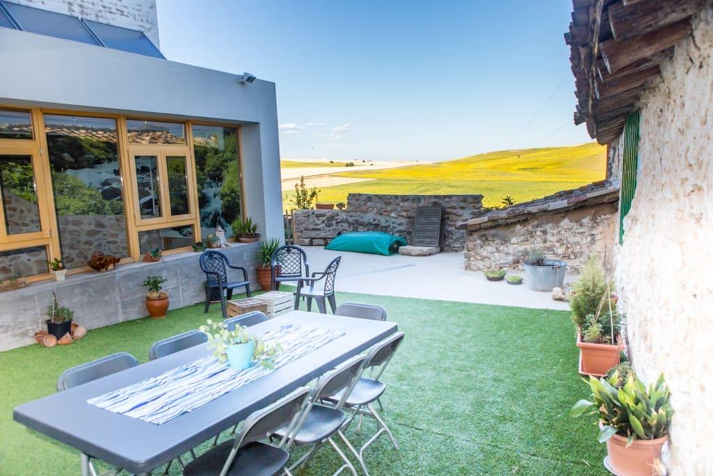 Casa rural con piscina climatizada casas en alquiler en for Casa rural con piscina madrid