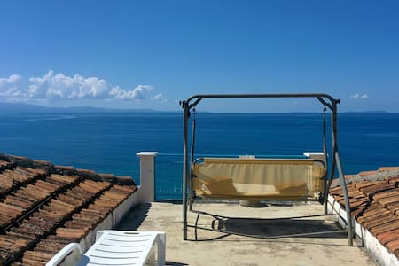 Villa with garden and view to the Ionian coast - Qeparo - Villa