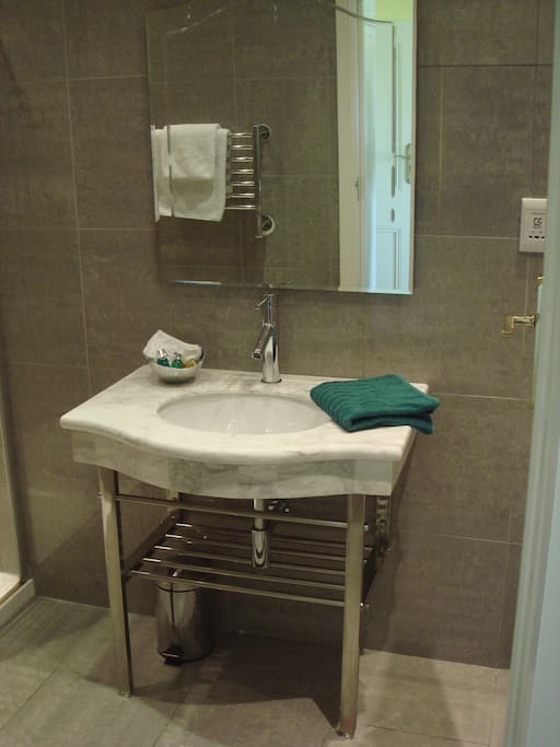 Clean, bright and spacious ensuite shower room