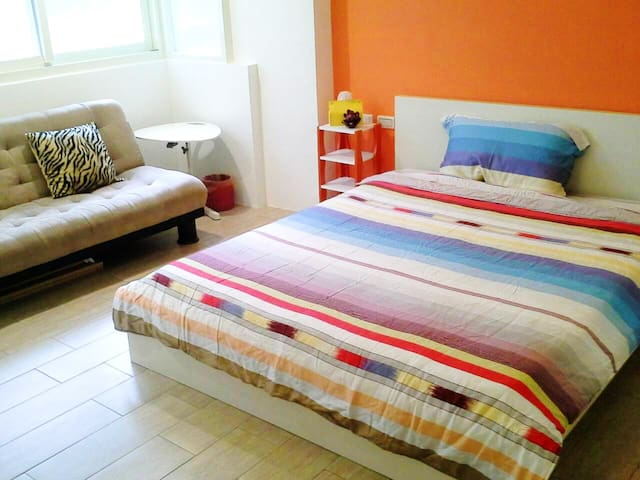 MRT 3mins, Double-Bed / 公館商圈 / 雙人房 - Zhongzheng District - Apartment