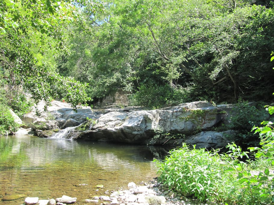 Idyllic natural pool of stream for swimming & chilling.