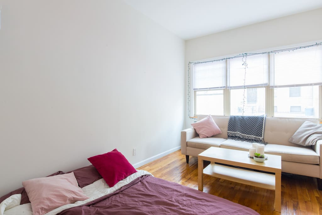 Private sunny room with private bathroom entrance for Rooms for rent in nyc with private bathroom