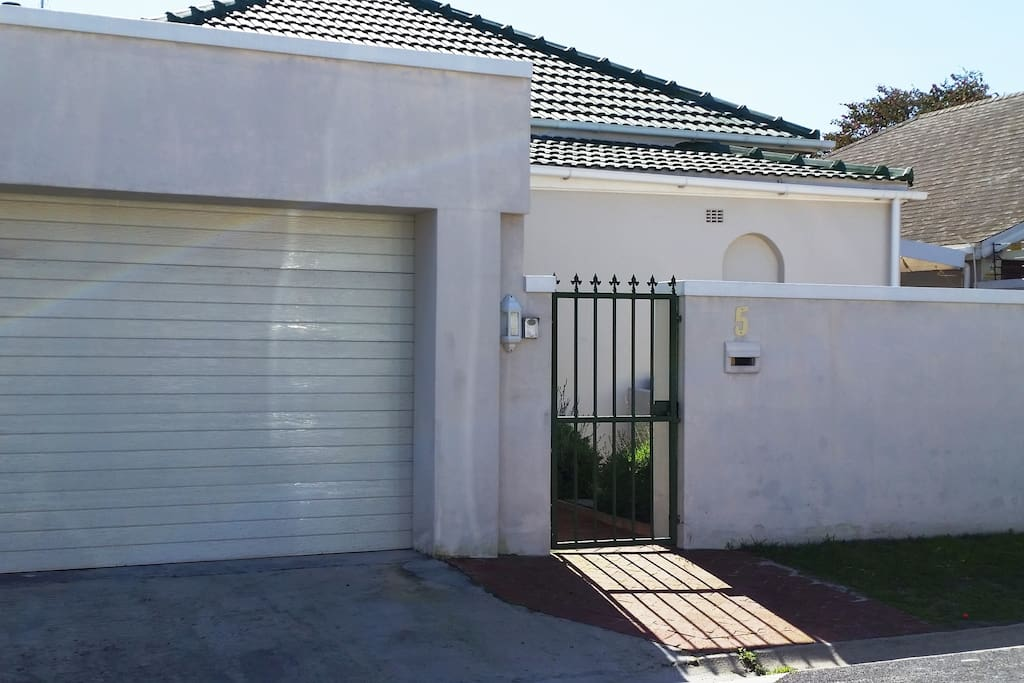 front of house with double garage