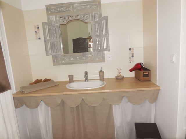 chambre Toile et Lin - EVRAN - 家庭式旅館