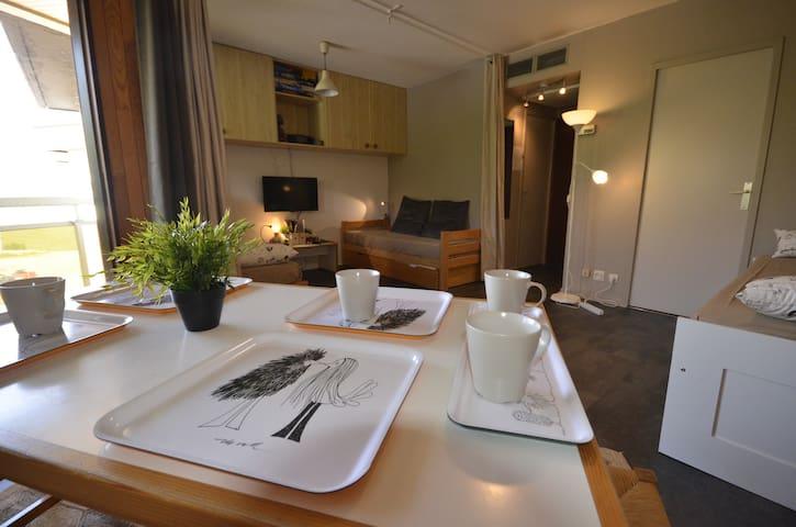 Beau studio confortable et au calme - Fontcouverte-la-Toussuire - Apartamento