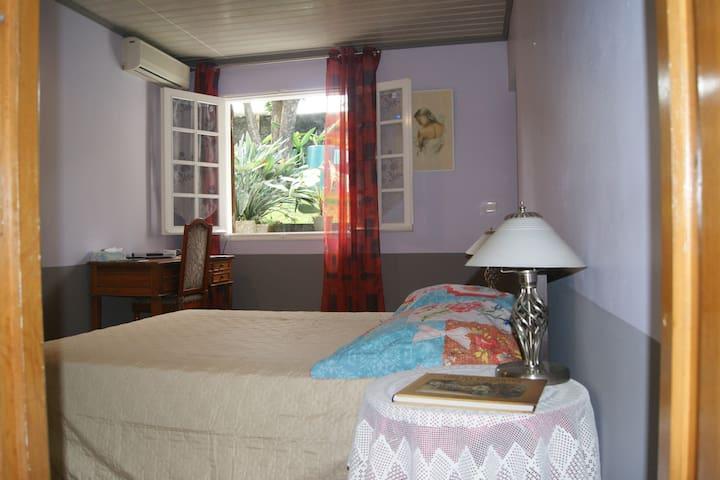 Grande chambre bien éclairée et aérée  Clim et chauffage