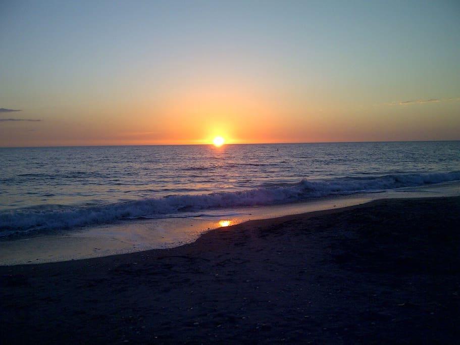 Sunset on Manasota key, just a short walk away.
