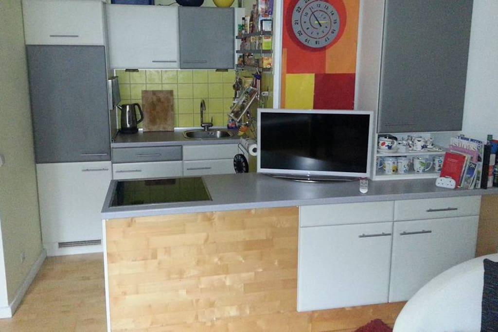 The kitchen which of course you may use, with washing machine for clothes