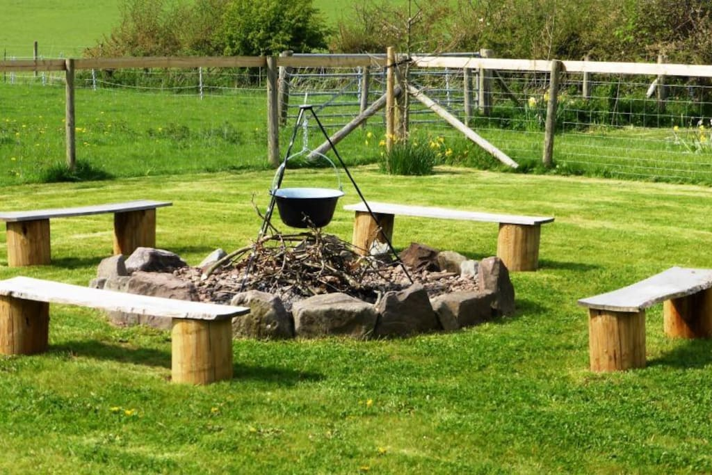 garden fire pit - great for toasting marshmallows