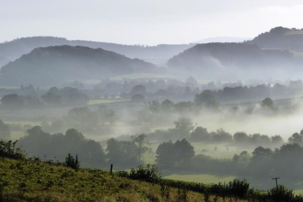 early morning mist rising in the Golden Valley