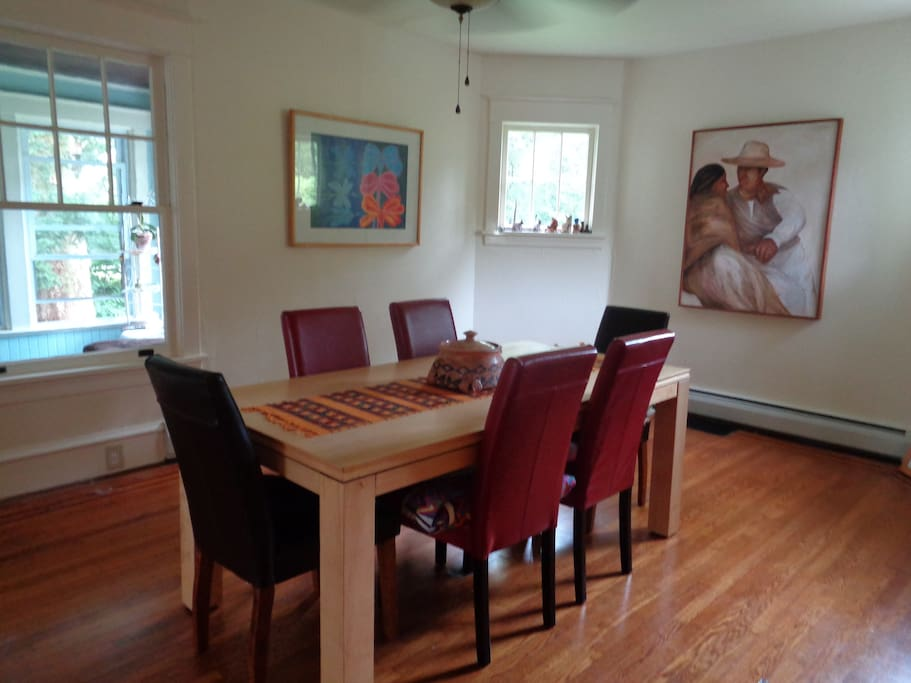 Large dining room for use by guests.