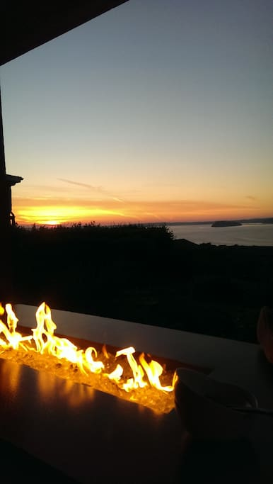 Sunset from the deck in front of the fire pit