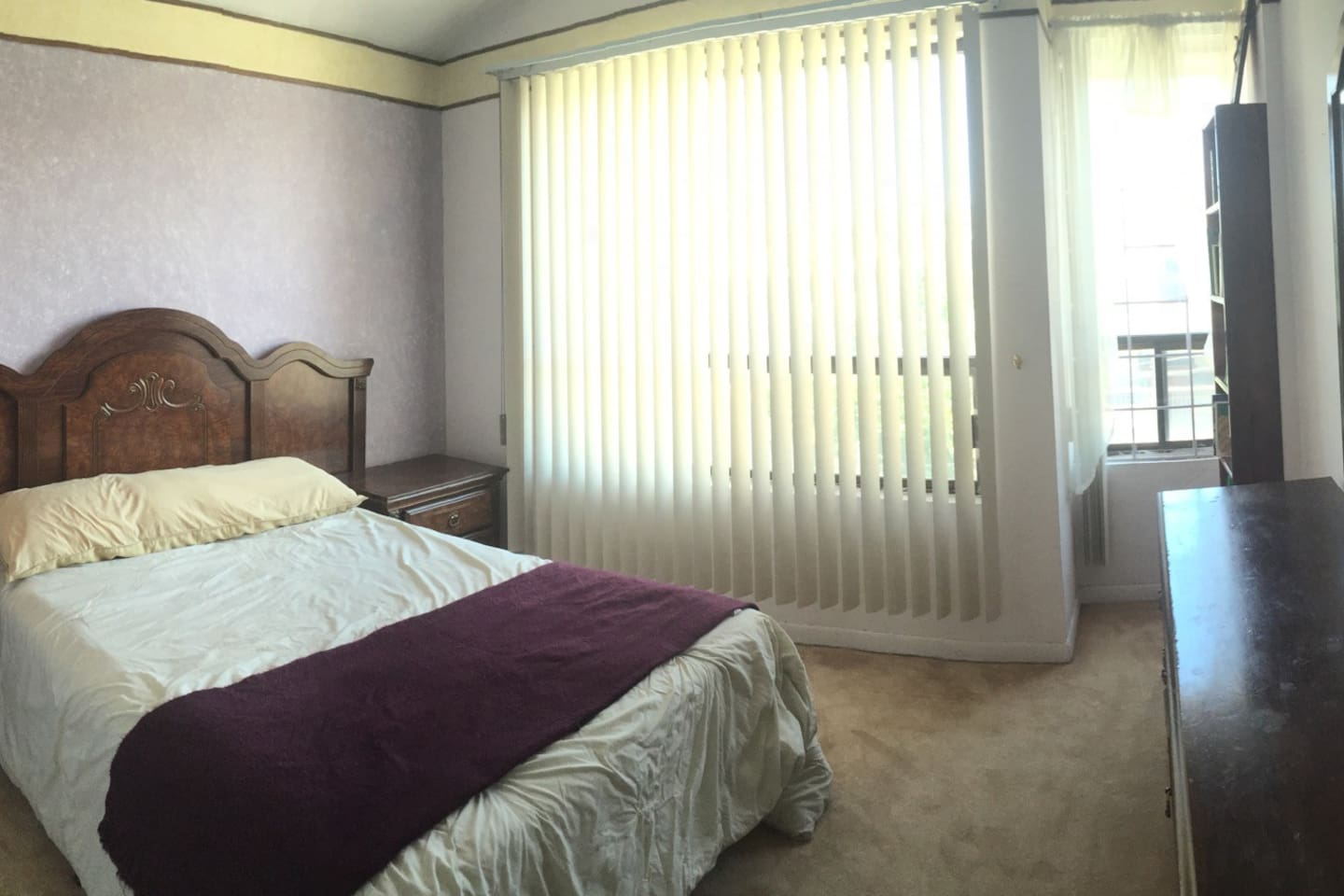 Private double bed room with shared bathroom