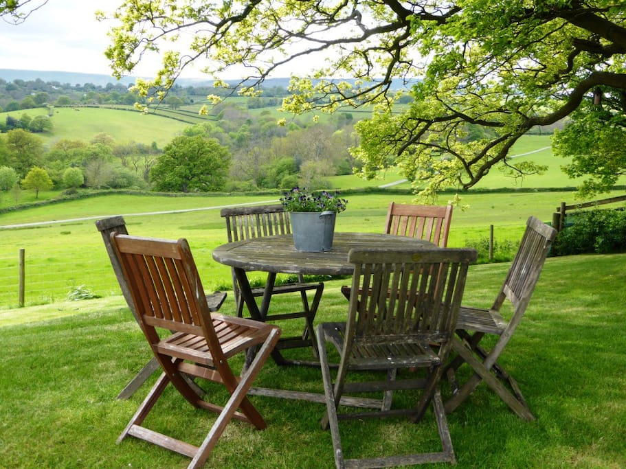fantastic views from the peaceful garden