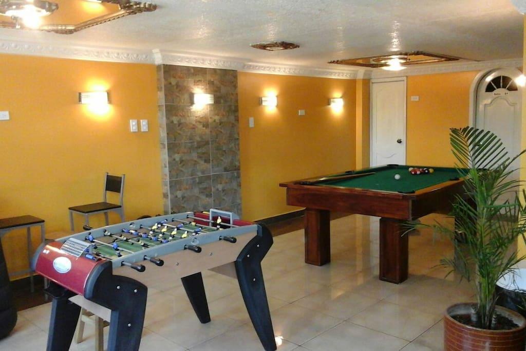 Sala de entretenimiento para nuestros amigos.