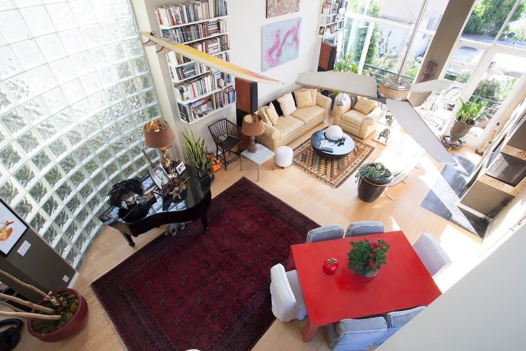 Open And Sunny Living Room, viewed from Loft Den