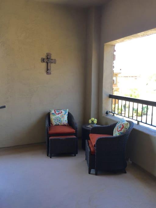 Balcony outside front door (2nd floor condo)