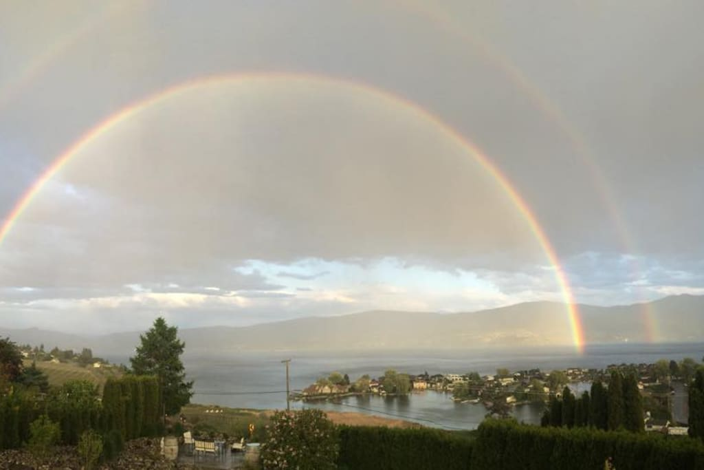 If you're lucky you'll see a full double rainbow!