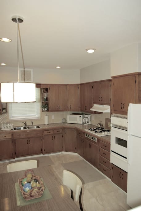 Large kitchen equipped with everything needed to prepare meals