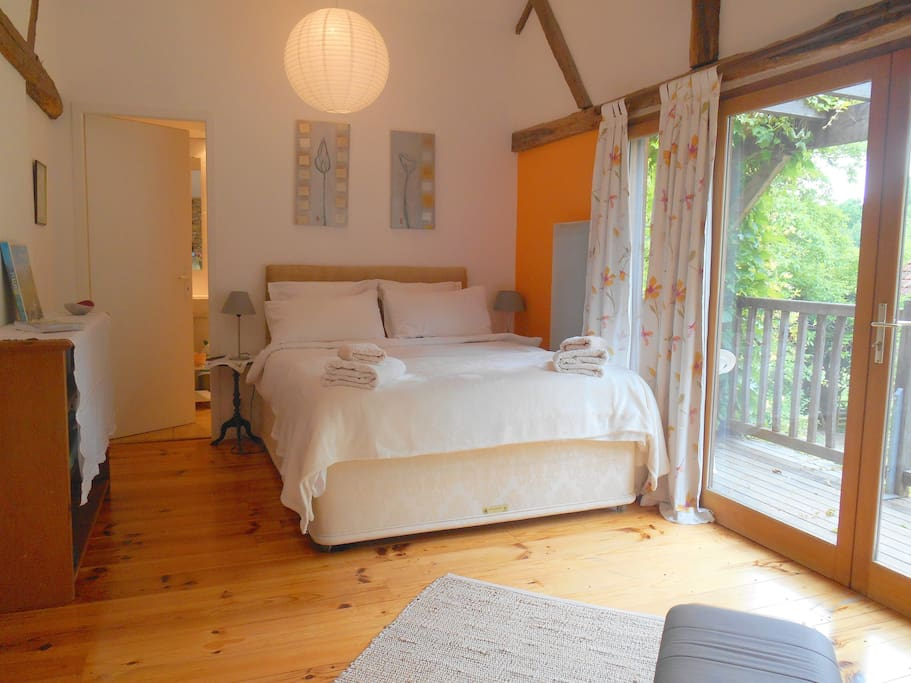 Comfortable and large double room with own shower room and wc